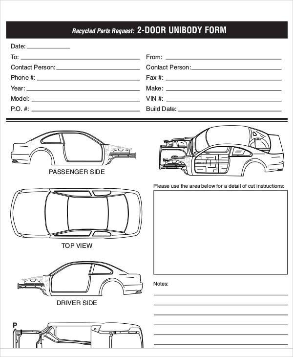 auto parts requisition form