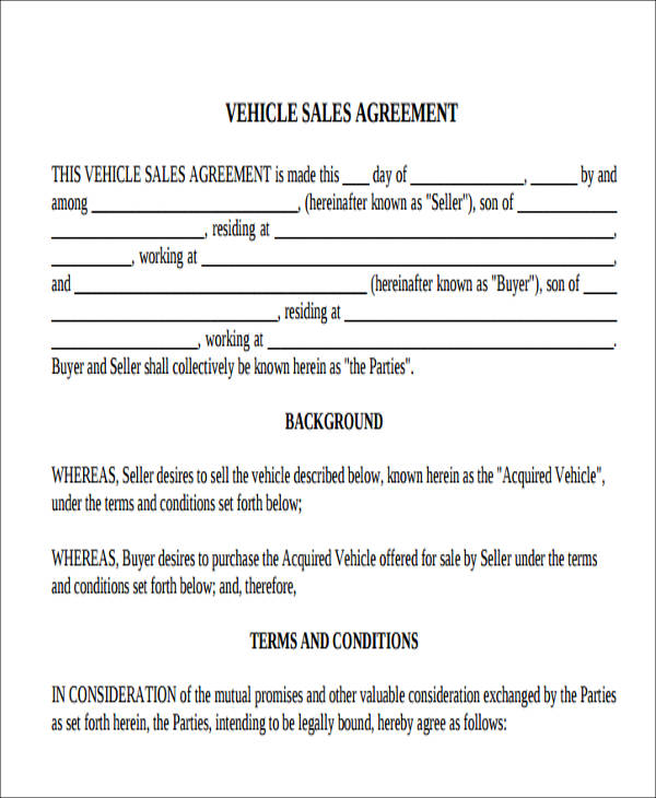 6 Auto Sales Receipt Samples Sample Templates