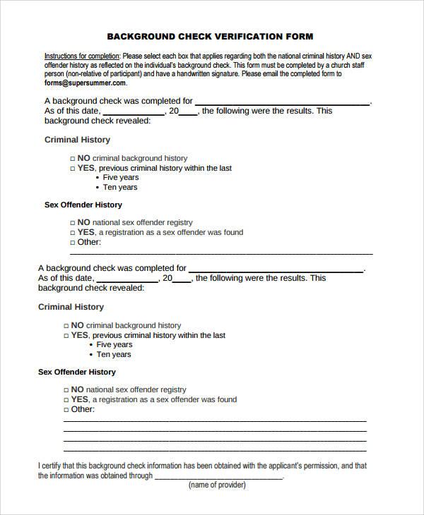 50 sample verification forms sample templates. Black Bedroom Furniture Sets. Home Design Ideas