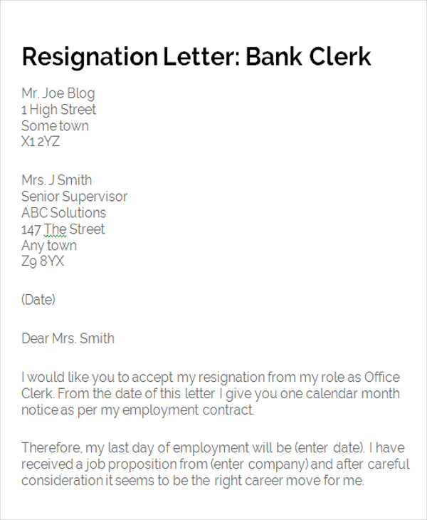 Bank manager resignation letter smart letters.