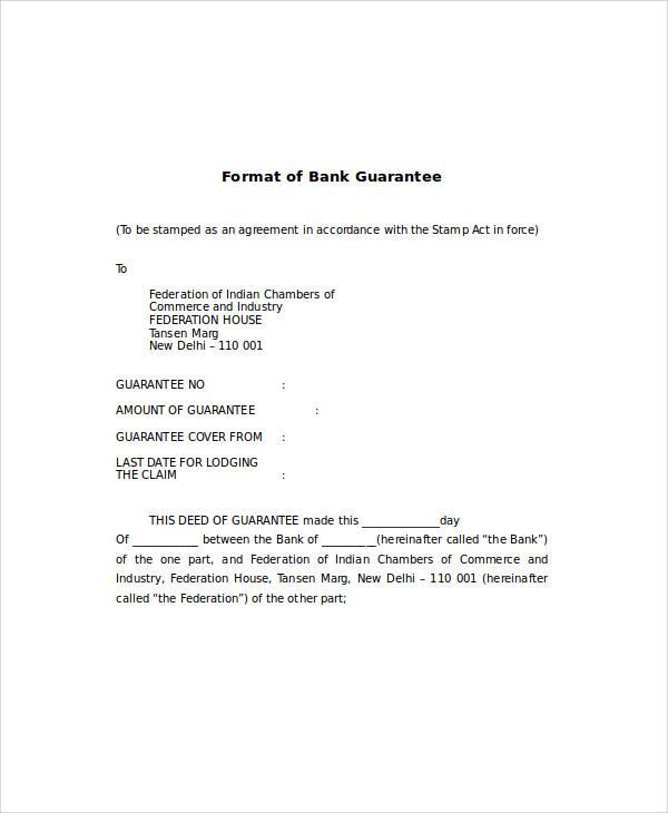 bank guarantee letter format1