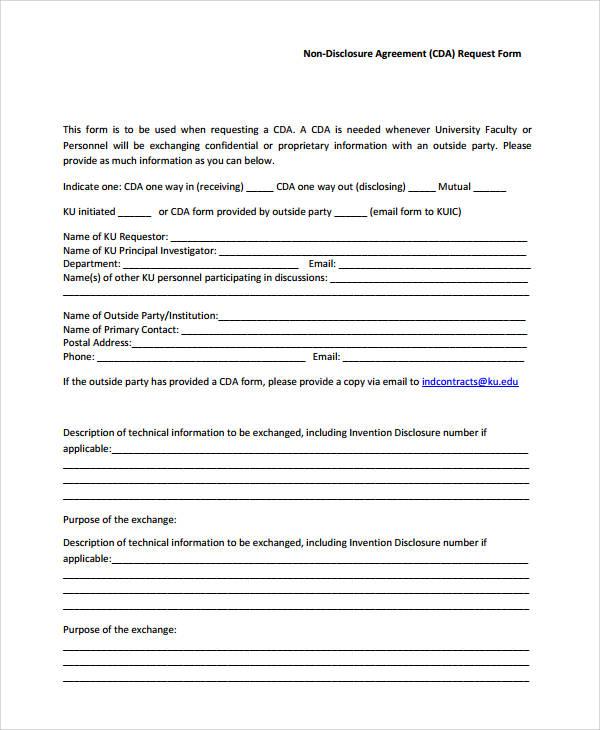 46 Agreement Form Sample Sample Templates