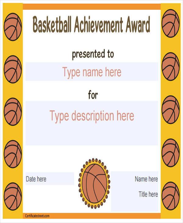 basketball certificate of achievement2