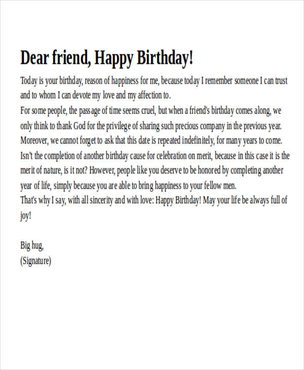 best birthday love letter