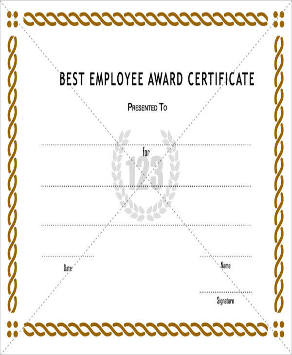 best employee award certificate1