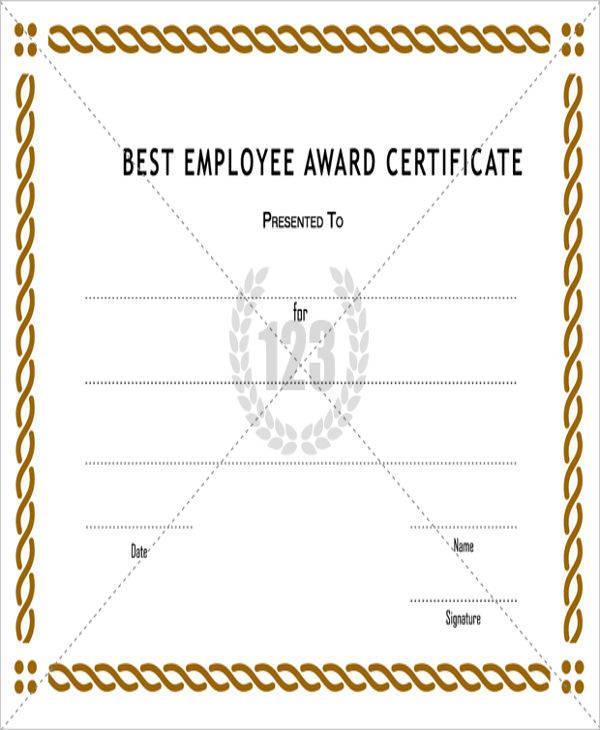 best employee award certificate2