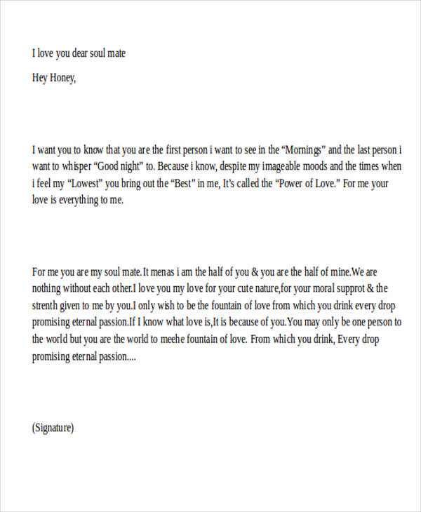 best proposal love letter