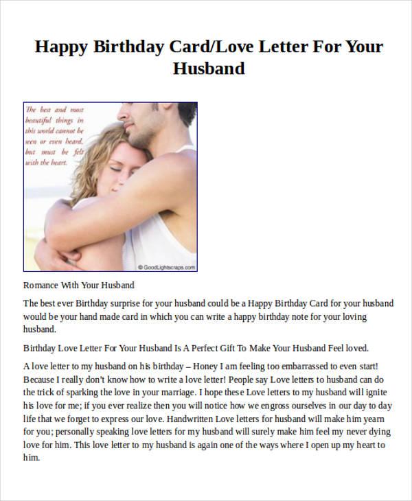birthday love letter for husband
