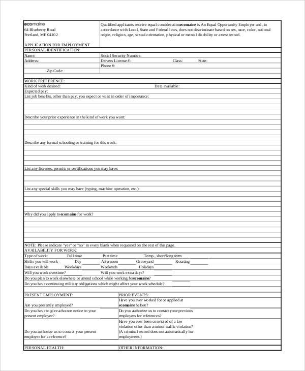 blank employment application form3