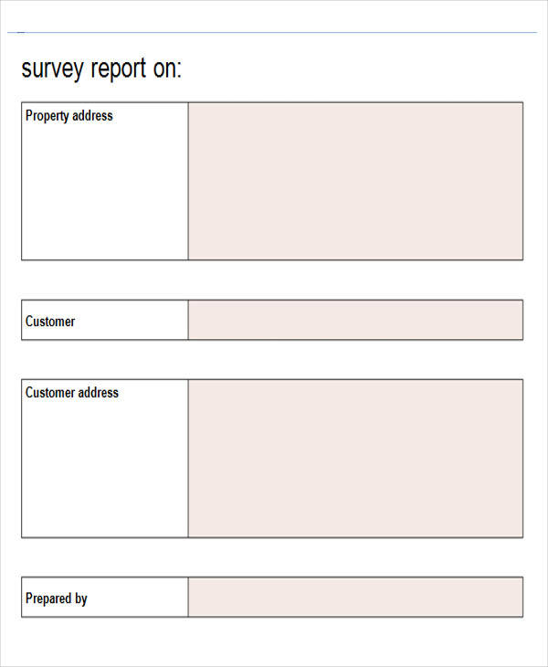 Blank Survey. Notice That The Only Options For These Columns Are