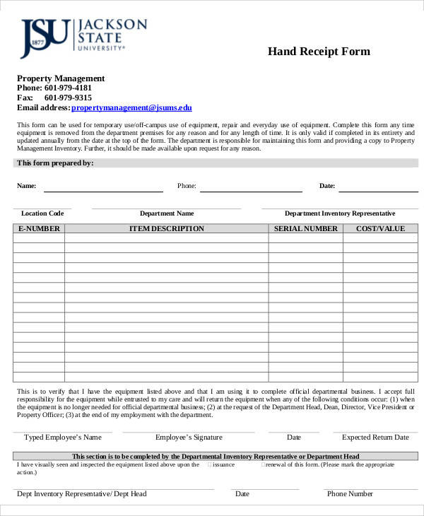 38  sample receipt forms in pdf