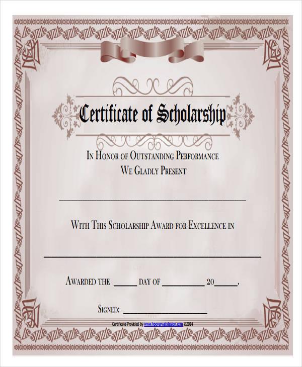 blank scholarship award certificate1