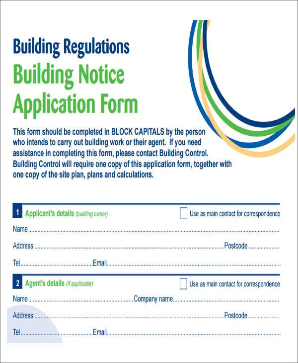 building notice application form pdf