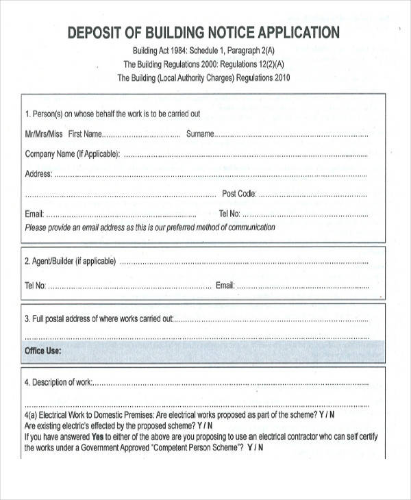 building notice application form2