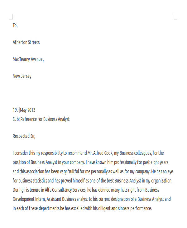 business analyst reference letter1