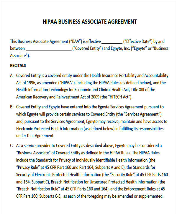 business associate agreement form2