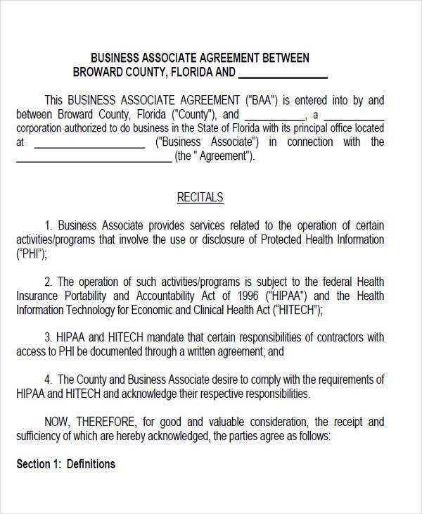 business associate agreement form3