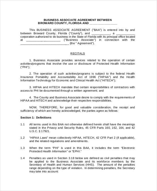 business associate agreement form4