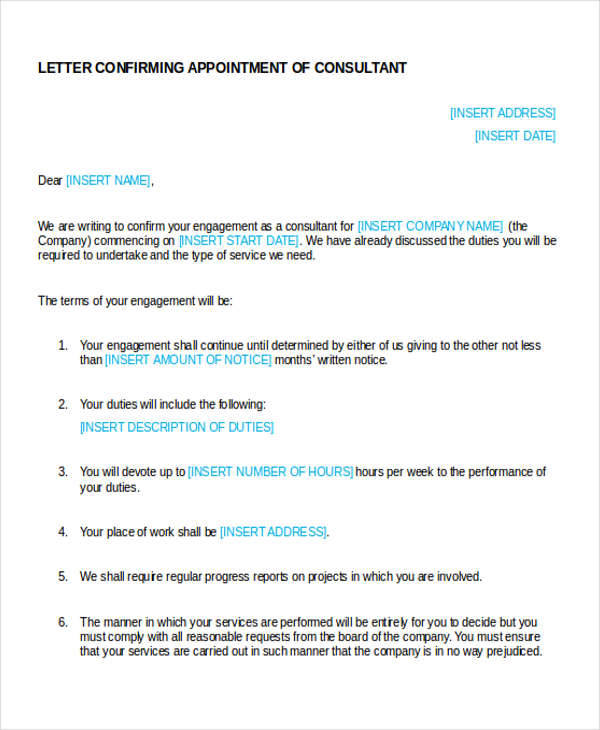 business consultant appointment letter1