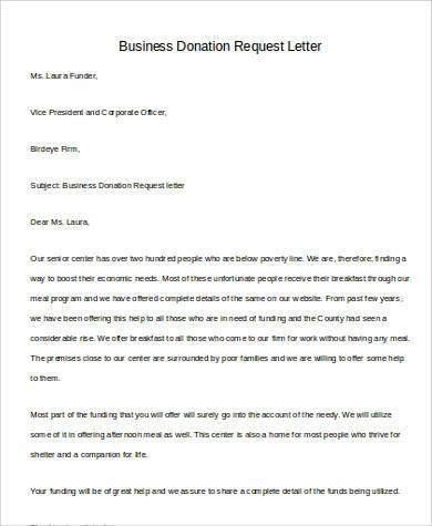 business donation request letter1
