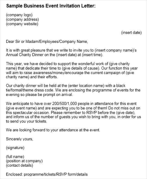 45 business letter examples sample templates business event invitation stopboris Choice Image