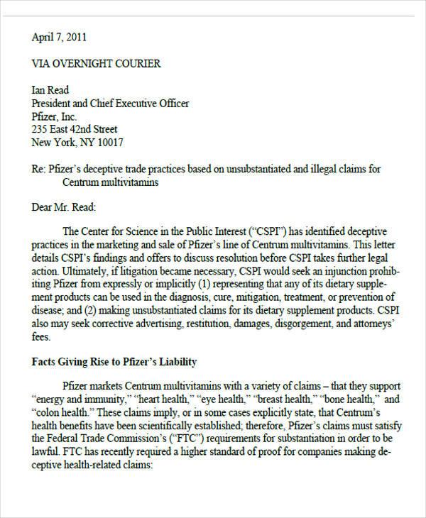 business final demand letter