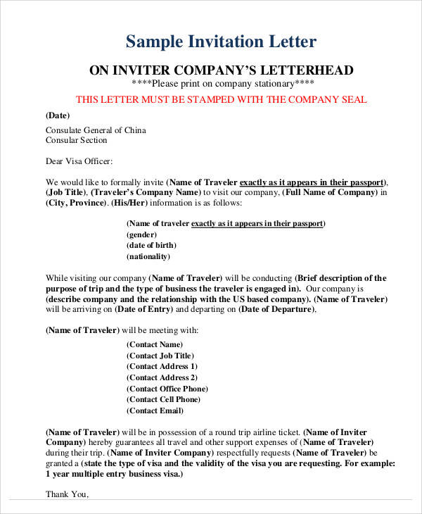 invitation letter for visa belgium 34 sample invitation letters pdf word apple pages 11091