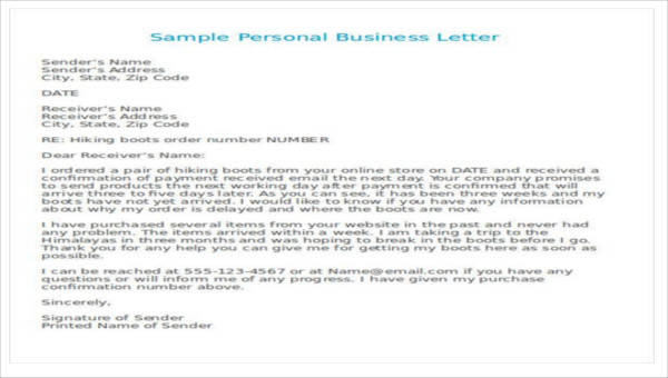 30 business letter format samples sample templates img a business letter spiritdancerdesigns Image collections