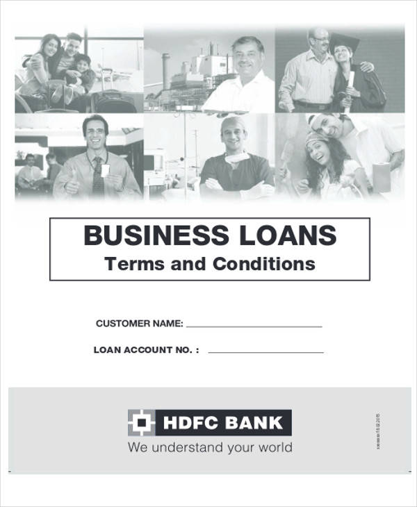 business loan agreement form