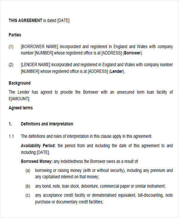 business loan agreement form4