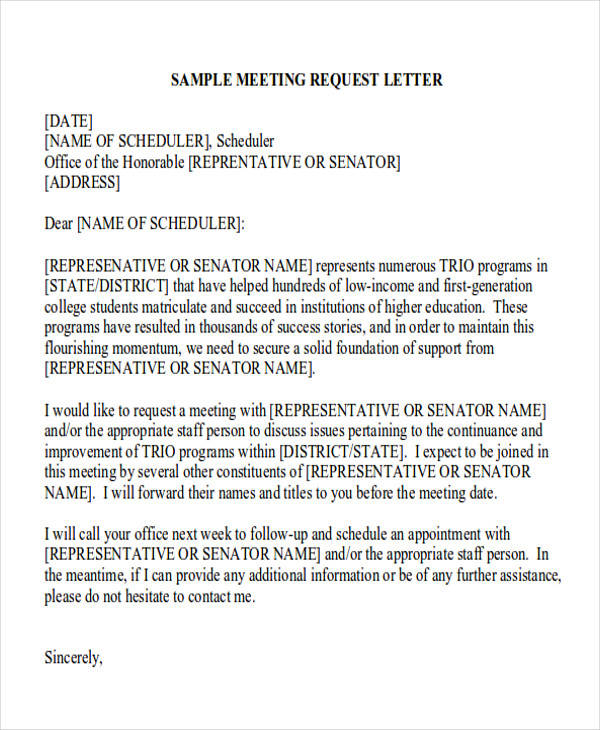 Formal request letters business meeting request letter spiritdancerdesigns Choice Image