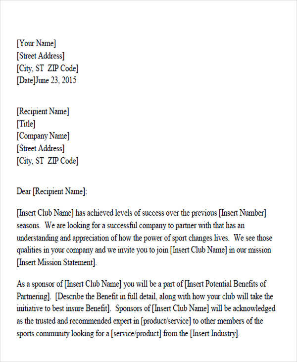 Business Partnership Request Letter Of Intent  Partnership Letter Of Intent
