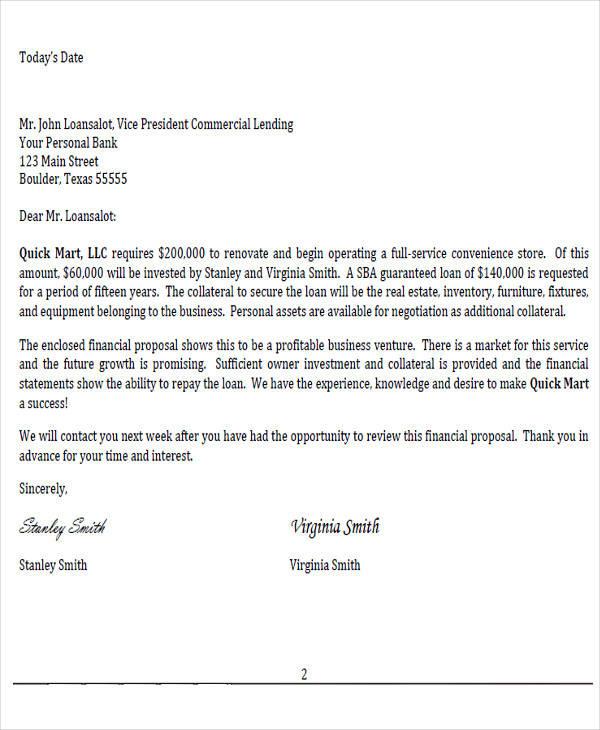 business plan cover transmittal letter