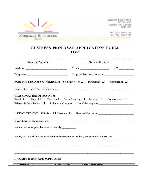 45 Sample Proposal Forms
