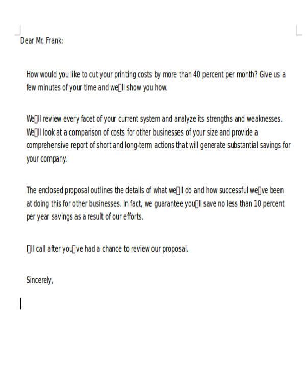 80 sample letters sample templates business proposal letter spiritdancerdesigns Gallery