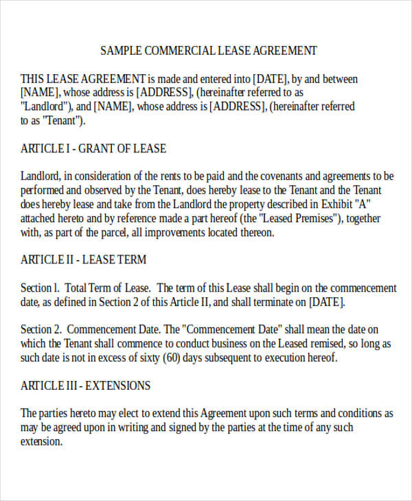 business rental lease agreement form2