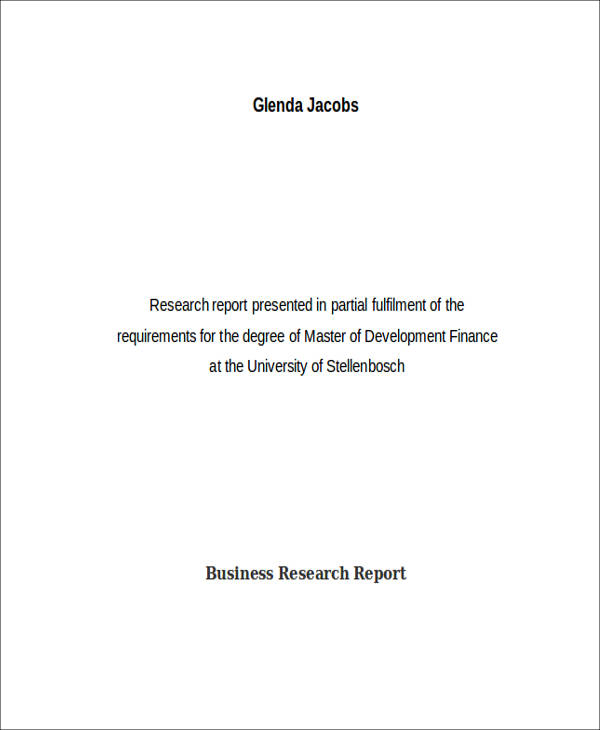 business research report