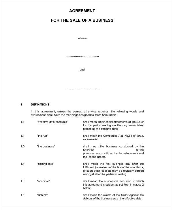 Business Sale Agreement Images - Reverse Search