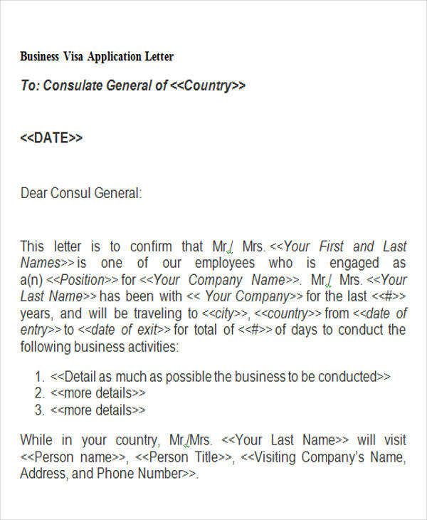 business visa application letter4