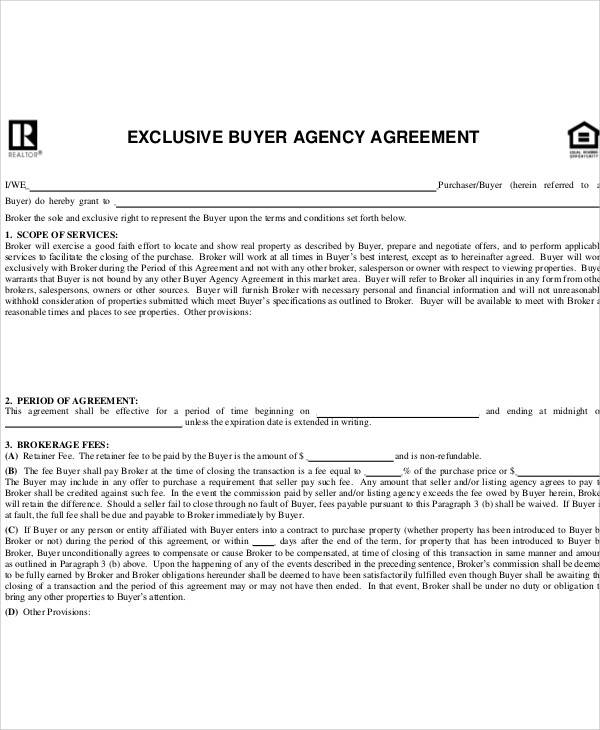 buyer agency agreement1