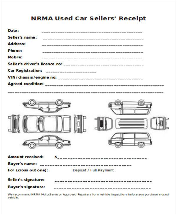 car sales receipt form1
