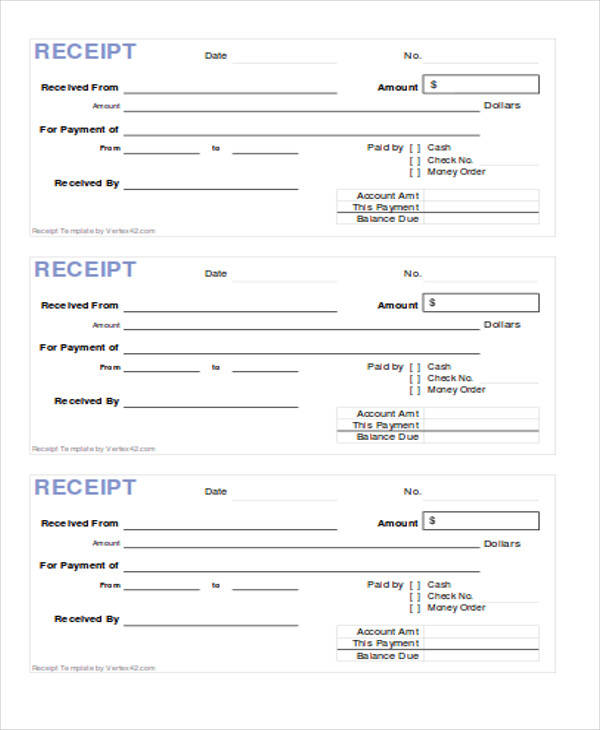 39+ Sample Receipt Forms | Sample Templates