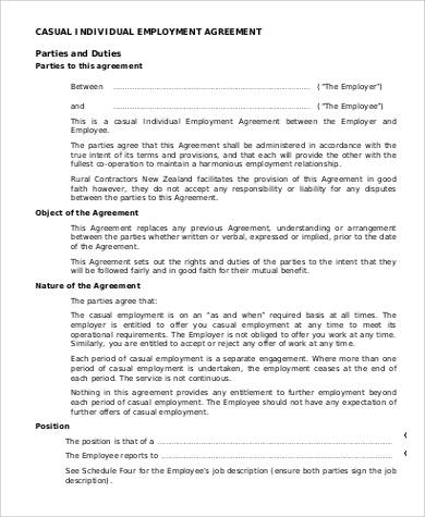 Employment Agreement Sample Canada Employment Agreement