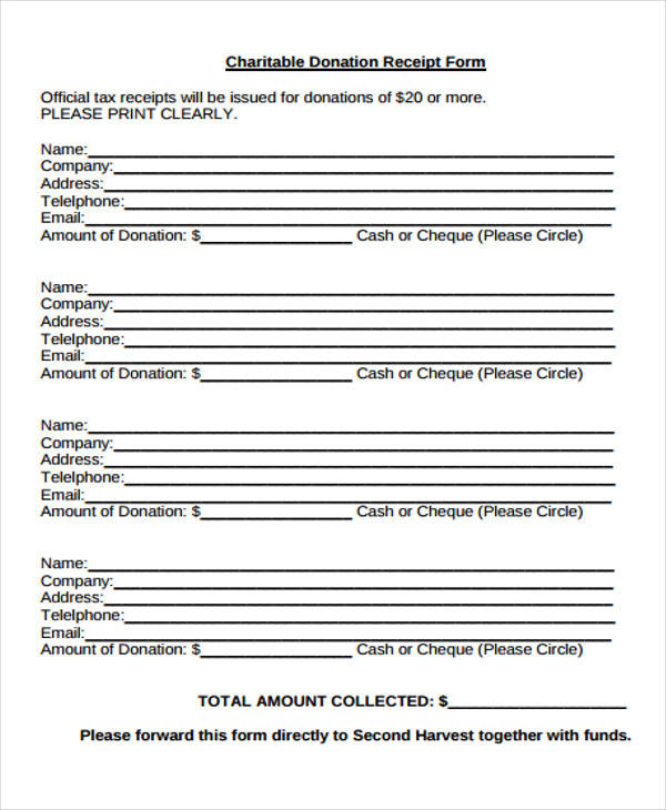Donation Receipt Forms Militaryalicious