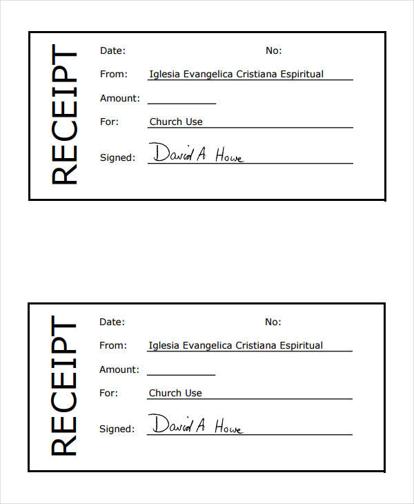 church donation receipt form0a0a