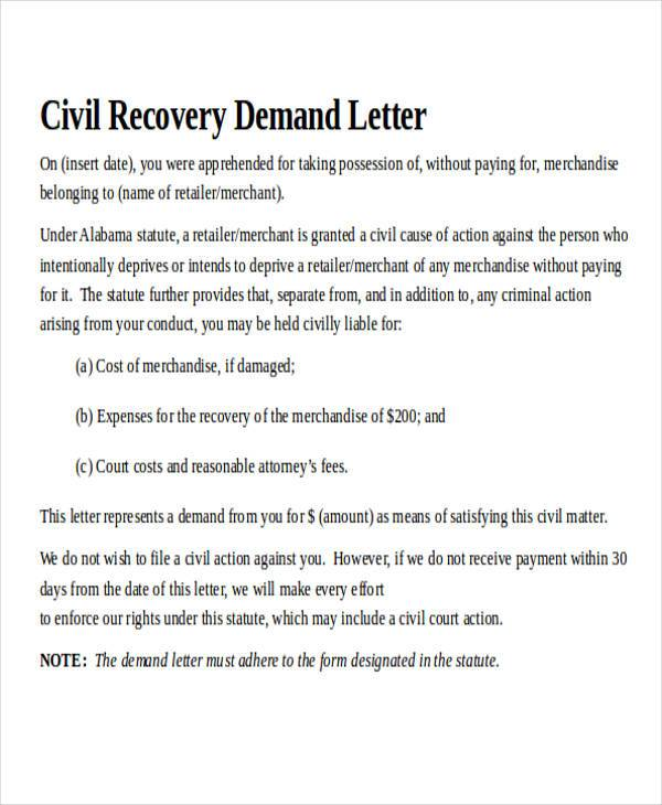 44 Demand Letter Examples Sample Templates