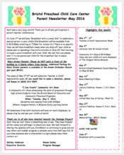 clover-preschool-newsletter