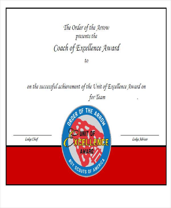 21  award certificates samples  u0026 templates