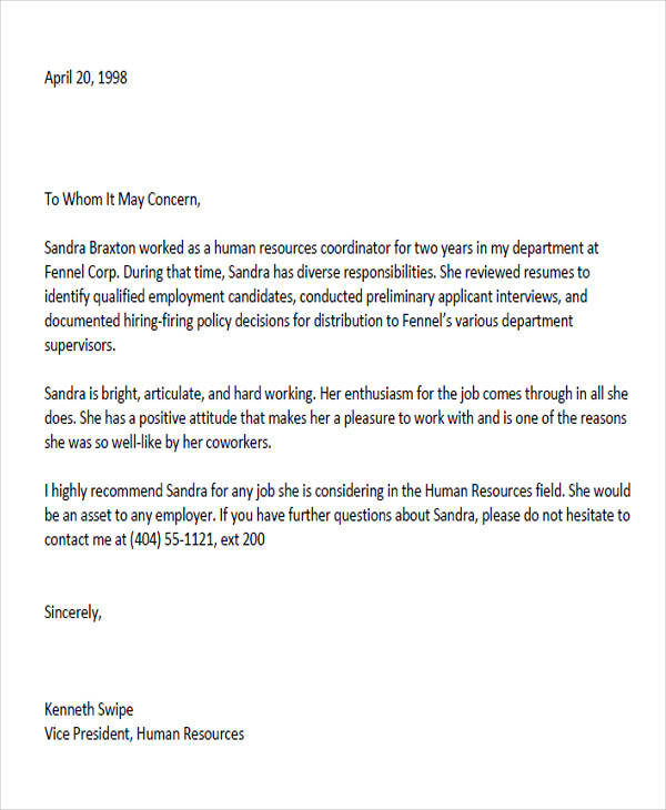 Coworker reference letter template robertottni coworker reference letter template 6 sample colleague recommendation expocarfo