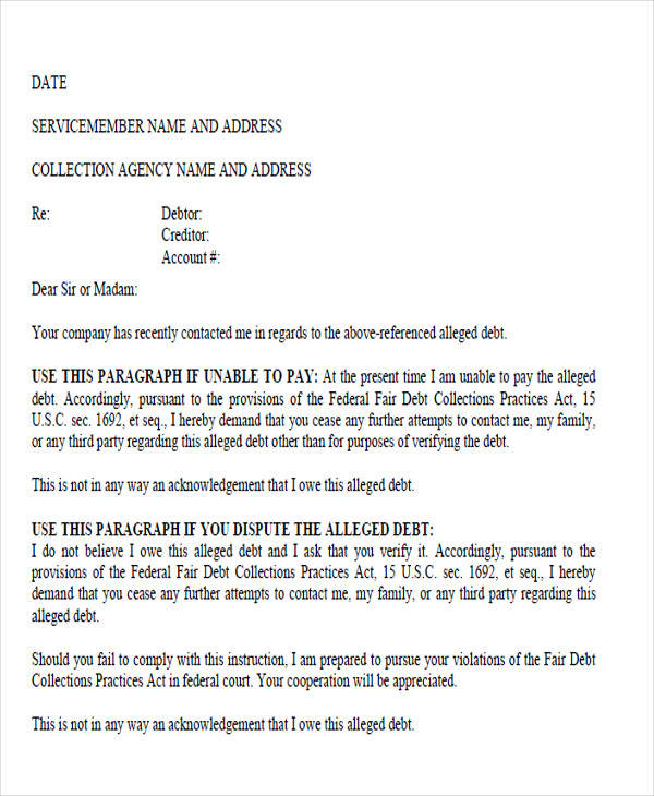 collection agency demand letter2